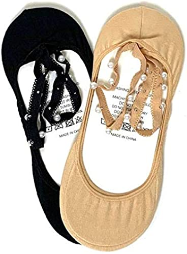 discount Ladies online sale Pearl Cross outlet sale Strap Socks - Set of 2 outlet sale