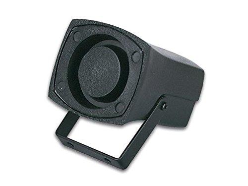 VELLEMAN - SV/PS1 Mini-Piezo-Sirene (schwarz, auf Putz/Decke, 1,5–3,5Hz, 40x 45x 60mm, Piezo, 6–14V DC/200mA) 613007