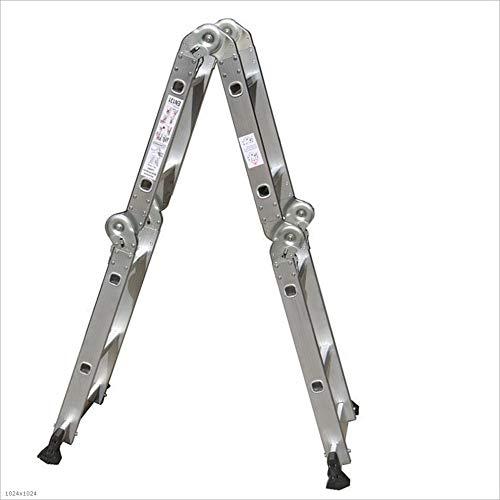 Love lamp Escaleras Plegables Escalera Plegable Antideslizante de Escalera Cuadrada Extensión de Aluminio multipropósito Combinación de Servicio Pesado (2.5 Metros) Escaleras Telescópicas