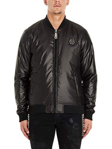 Philipp Plein Luxury Fashion Herren MRB1419PTE003N02 Schwarz Polyester Jacke | Frühling Sommer 20