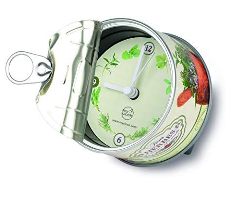 My Clock MyClock Horloge de table avec Aimant, My Clock personnalisable, Photo-cadeau, Cadre d'image, Souvenir, DIY Deco - Herbes de Provence