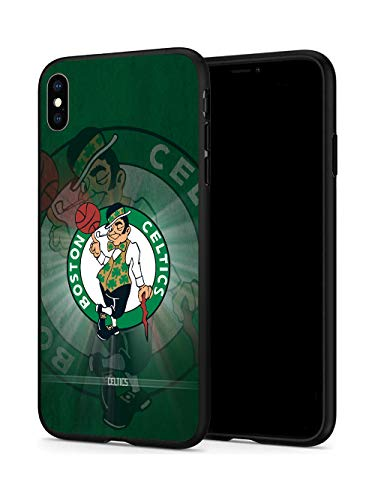 iPhone X Case iPhone Xs Case, Basketball Team & Star Fashion Hard Plastic & Silicone Rubber Bumper Protective Case for iPhone X/iPhone Xs (5.8-inch Display) (Celtics-X/Xs)