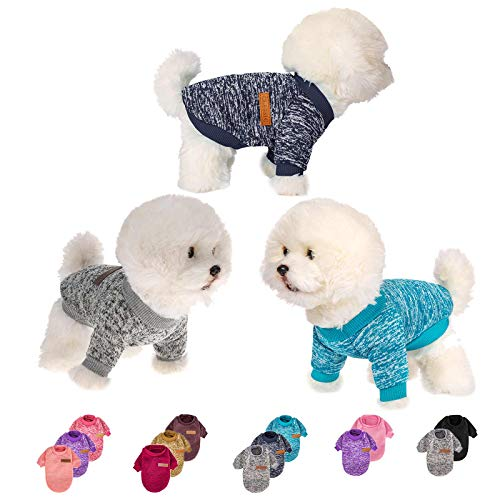 3 Pieces Dog Clothes for Small Medium Large Dog or Cat, Warm Soft Pet...