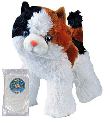Stuff Your Own 16 inch No Sew Animal Kit - Cali The Calico Cat by Teddy Mountain - Also Available Stuffed and A Personalized Music Playing Version (KIT)
