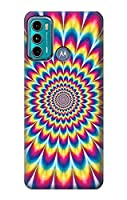 JP3162G60 カラフルなサイケデリック Colorful Psychedelic For Motorola Moto G60, G40 Fusion 用ケース