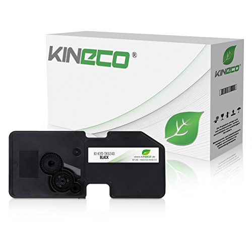 Kineco Toner kompatibel zu Kyocera TK-5240 für Kyocera Ecosys P5026cdw M-5526cdn M-5526cdw P-5026cdn - Schwarz 4.000 Seiten
