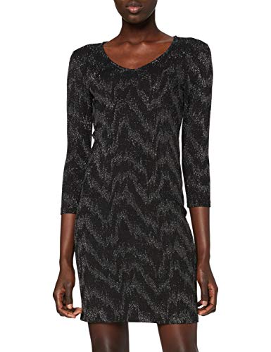 ONLY Damen Kleid, AOP:Zebra Silver Glitter/ONYFANCY 3/4 Glitter Dress JRS, S
