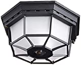 Heath Zenith HZ-4300-BK Ceiling Motion Light, Black
