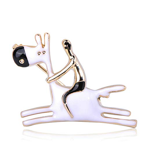 COLORFULTEA Cute Men Donkey Shape Brooches Animal Horse Enamel Jewelry Kids Gifts Women Girls Clothes Scarf Hat Bag Pins Accessories