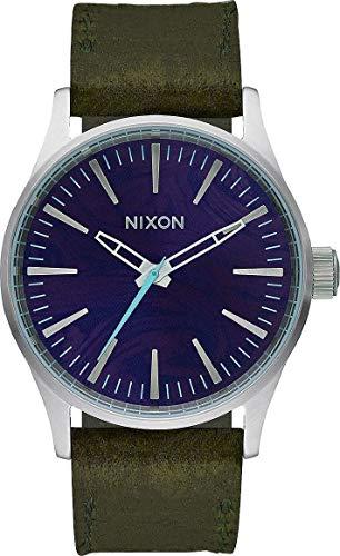 Nixon Unisex Analog Quarz Uhr mit Leder Armband A3772302