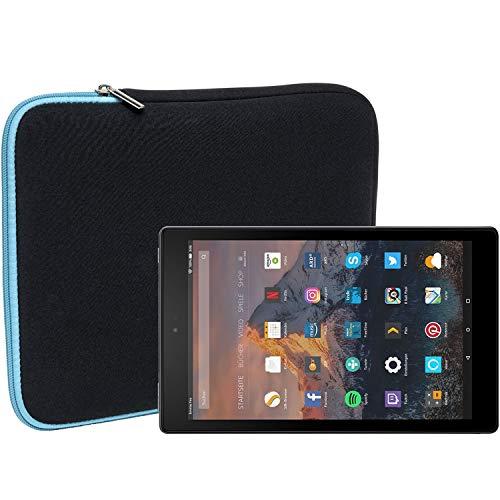 Slabo Tablet Tasche Schutzhulle fur Amazon Fire HD 10 Tablet mit Alexa 2565 cm 101 Hulle Etui Case Phablet aus Neopren TURKISSCHWARZ