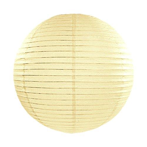 Simplydeko LAMPION Papierlaterne | Deko für Party, Garten und Hochzeit | Papierlampions (Beige Creme Sand, 20 cm)