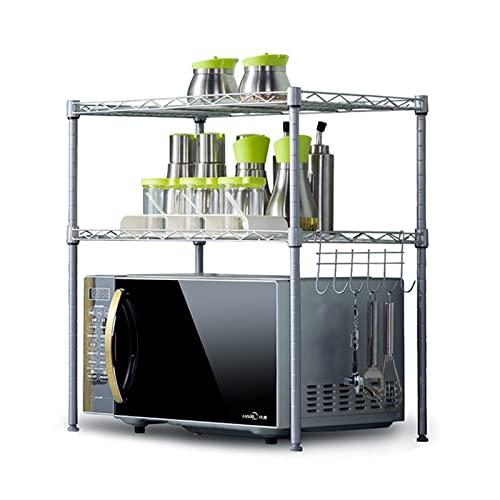 WAN LIKE Encimera de estantes de microondas de 2 Niveles,estantes de Almacenamiento de Acero al Carbono Universal con Gancho,tostadora de Metales Horno de tostadora for Cocina