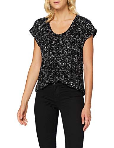 TOM TAILOR Denim Damen Sporty Bluse, 24326-black White dot, XXL