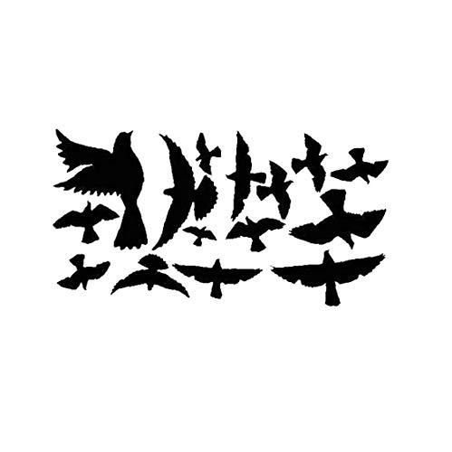 lulongyansf Wandaufkleber Kreative Pigeon Vogel Herde Muster-Aufkleber-entfernbare Wand-Rollenwechsler für Wohnzimmer Schlafzimmer-Dekoration-Aufkleber für DIY