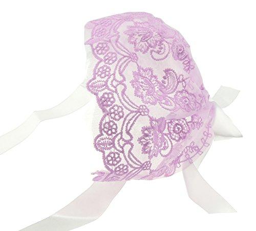 Glamour Girlz Bonnet de baptême en dentelle brodée pour bébé fille garçon 0–3 mois - Violet - Taille unique