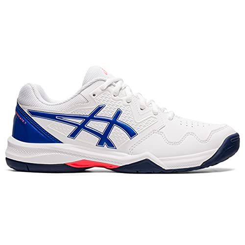 ASICS Gel-Dedicate 7, Scarpe da Tennis Donna, White/Lapis Lazuli Blue, 41.5 EU