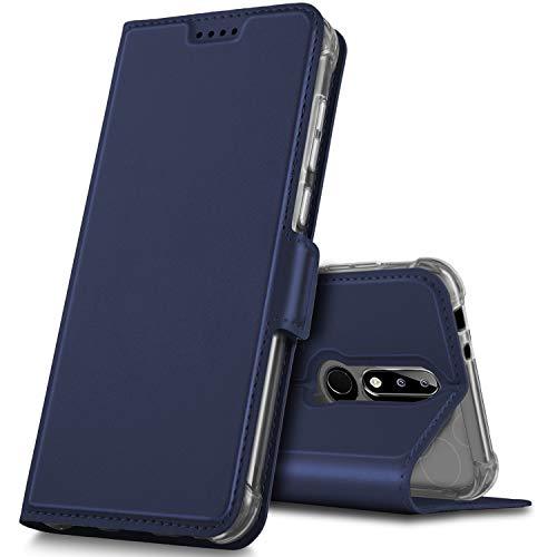 Geemai Cover Nokia 5.1 Plus, Custodia Protettiva Nokia 5.1 Plus, Custodia a Portafoglio in Pelle PU Premium Protezione di Lunga Durata, Adatto per Nokia 5.1 Plus Smartphone.(Blu)