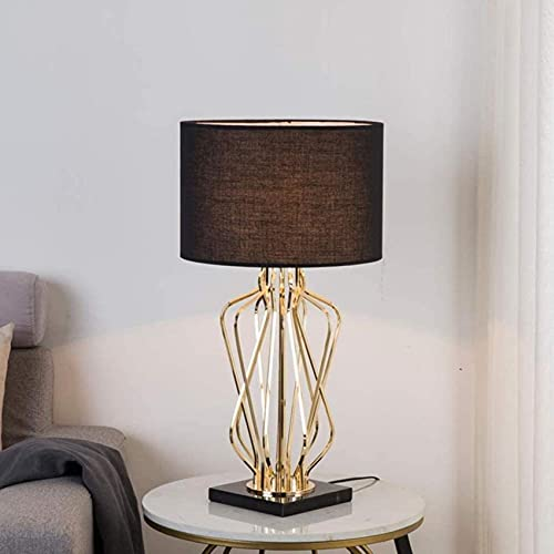 SpiceRack Lámpara de Mesa Personalizada, Lámpara de Mesa de Metal de mármol Creativa, Lámparas de Mesa LED Modernas Cabecera de Cama con Base de mármol de Metal Decoración de la habitación d