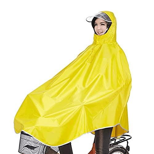 sorliva Regenponcho für Camping Fahrrad Regenmantel Regenschutz mit Kapuze, Poncho-Gelb