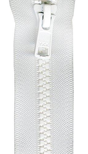 YKK VSP06-501 Mini Vislon Separating Zipper, 6', White