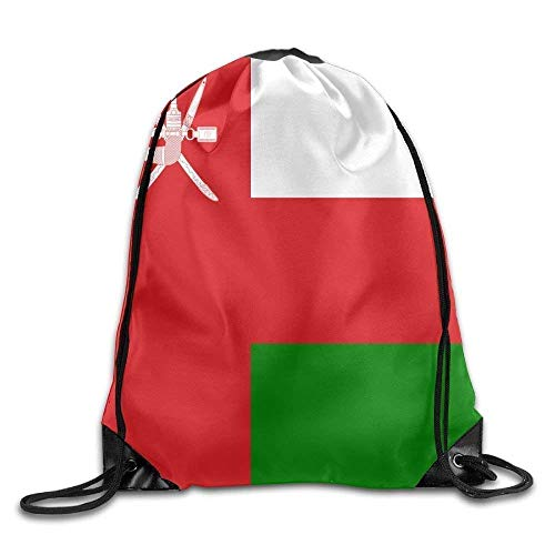 Etryrt Prämie Turnbeutel/Sportbeutel, Flag of Oman Funny Gym Drawstring Bags Travel Backpack Tote School Rucksack