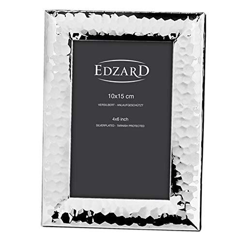 Edzard portafoto Gubbio per Foto 10x15 cm, Argento pregiato Placcato, antiossidante