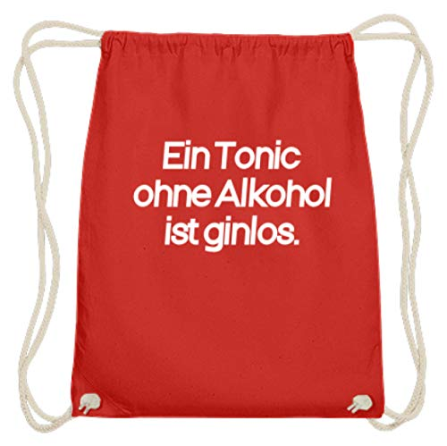 Desconocido Un tónico sin alcohol es ginlos. Divertido diseño de bebida – Sencillo y divertido diseño – Algodón Gymsac, color Rojo, talla 37cm-46cm