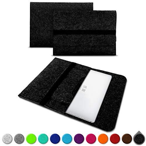 UC-Express Sleeve Hülle kompatibel für Trekstor Primebook C13 / P14 / P13 / P14B Tasche Filz Notebook Cover 13,3-14 Zoll Laptop Hülle, Farben:Dunkel Grau