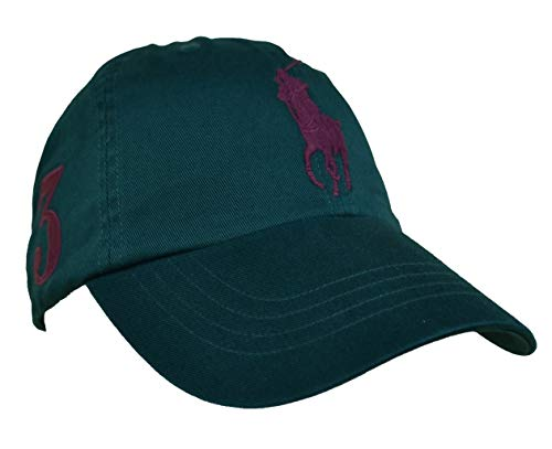 Ralph Lauren Gorra de béisbol para hombre, color verde con...