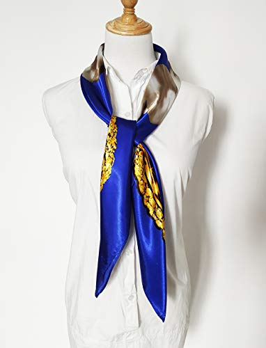 Women's 35″ Satin Square Silk Like Hair Scarves and Wraps Headscarf for Sleeping