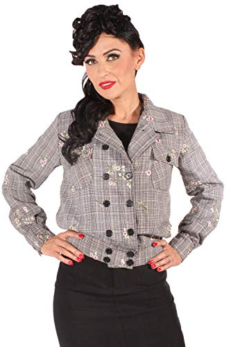 SugarShock Damen Rockabilly Glencheck Blouson 161225930