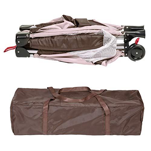 TecTake Kinderreisebett mit Schlafunterlage und praktischer Transporttasche – diverse Farben – (Coffee | Nr. 402417) - 6