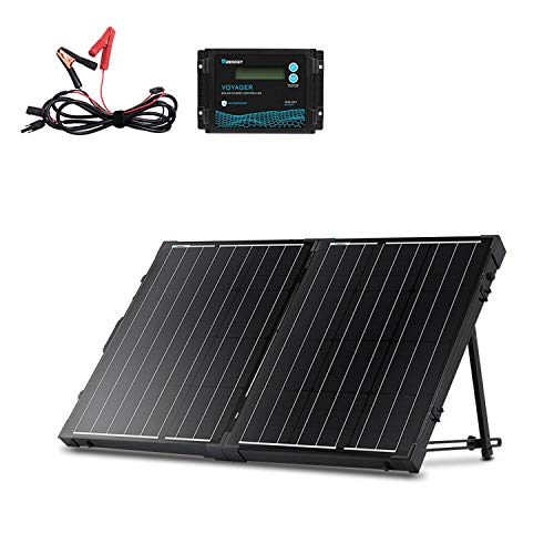 Renogy 100 Watt 12 Volt Monocrystalline Off Grid Portable Foldable 2Pcs 50W Solar Panel Suitcase...