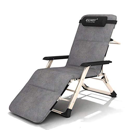 Ligstoelen stoel, ligstoel, tuin vrije tijd lounge stoel buitenstoel, met bekerhouder voor terras, gazon, strand, camping, zwembad, zwart