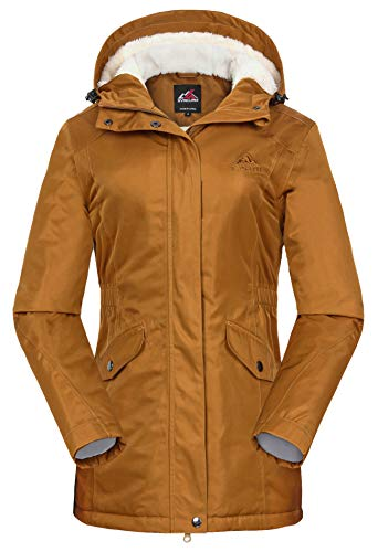 svacuam Women's Ladies Winter Snow Jacket(Turmeric,L)