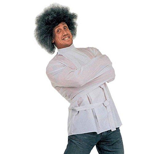 Camisa de estar equivocados coacción chaqueta blanco L 50/52 estupefacientes Convicto de vestuario para disfraz de Halloween Traje para hombre loco Pyschopath