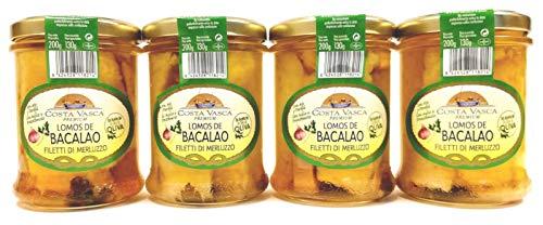 Bacalao en Aceite de Oliva, Ajo y Perejil COSTA VASCA - 200 grs. - [4 unidades]
