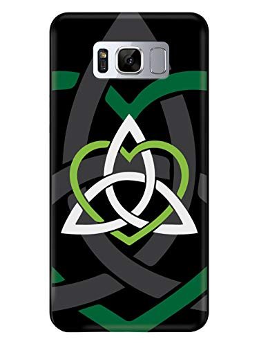 Inspired Cases - 3D Textured Galaxy S8 Plus Case - Rubber Bumper Cover - Protective Phone Case for Samsung Galaxy S8 Plus - Celtic Sisters Knot - Green - Black