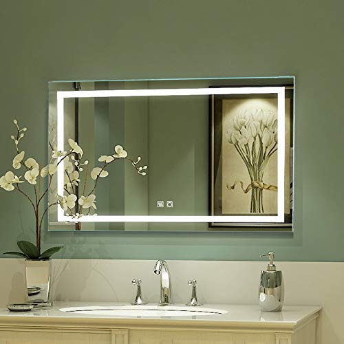 ExBrite LED Bathroom Mirror, 40 x 24 inch, Anti Fog, Night Light, -