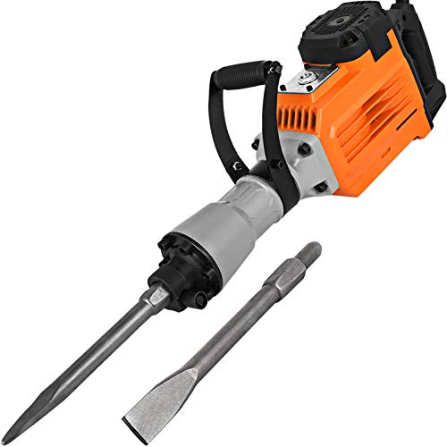 Mophorn 3600W Electric Demolition Hammer Heavy Duty Concrete Breaker 1800 RPM Jack Hammer Demolition Drills with Flat...