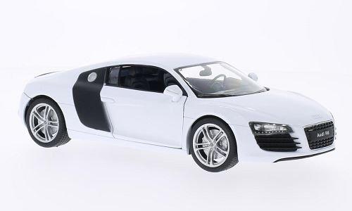 Audi R8, Weiss , Modellauto, Fertigmodell, Welly 1:24