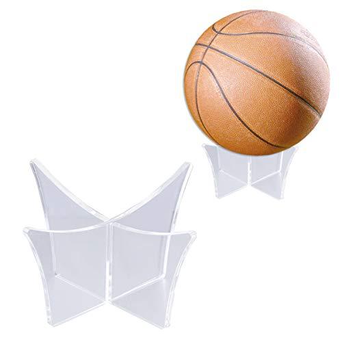 Vosarea Supporto per espositore per Palline Supporto per espositore Trasparente Supporto per Base per Pallacanestro Calcio Pallavolo - (Trasparente)