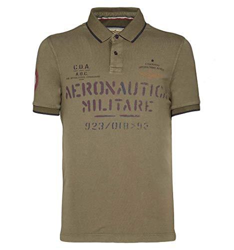 Aeronautica Militare Polo PO1348J Military, Jersey, Hombre, Sudadera, Camiseta, Chaqueta (L)
