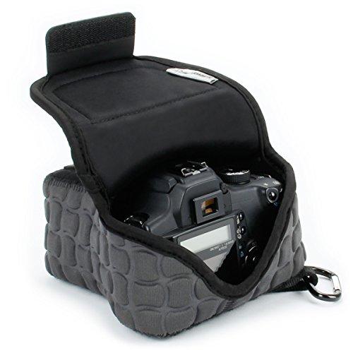 USA Gear Custodia per Fotocamere SLR / DSLR con Imbottitura Resistente , Fondina da Viaggio in Neoprene con Tasca per Accessori - Adatta a Canon 1300D , 100D / Nikon D3300 , D5300 / Pentax e Altri