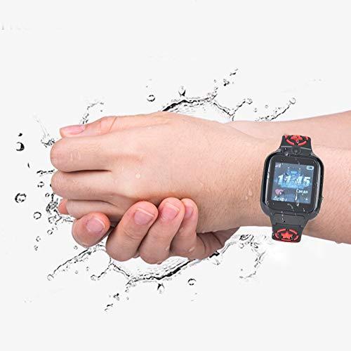 Reloj inteligente para niños DS60, reloj para teléfono inteligente a prueba de agua para niños con cámara WIFI + posicionamiento LBS Reloj multifuncional Regalos para niños niñas(rojo)