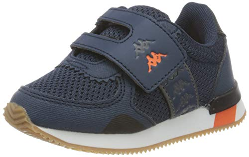 Kappa Unisex Baby Mohan 5 V INF Leichtathletik-Schuh, Marineblau orange, 24 EU