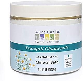 Aura Cacia Aromatherapy Mineral Bath, Tranquil Chamomile, 16 ounce jar