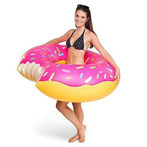 BigMouth Inc. Flotador Rosquilla Gigante Rosa. Donut Gigante glaseado Rosa para la Piscina y la Playa.