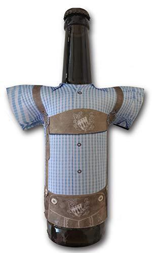 Madl & Buam Bierkühler als Lederhose, Bier Flaschenkühler für 0,3l und 0,5l aus Neopren, Cooles Bier- und Partygadget